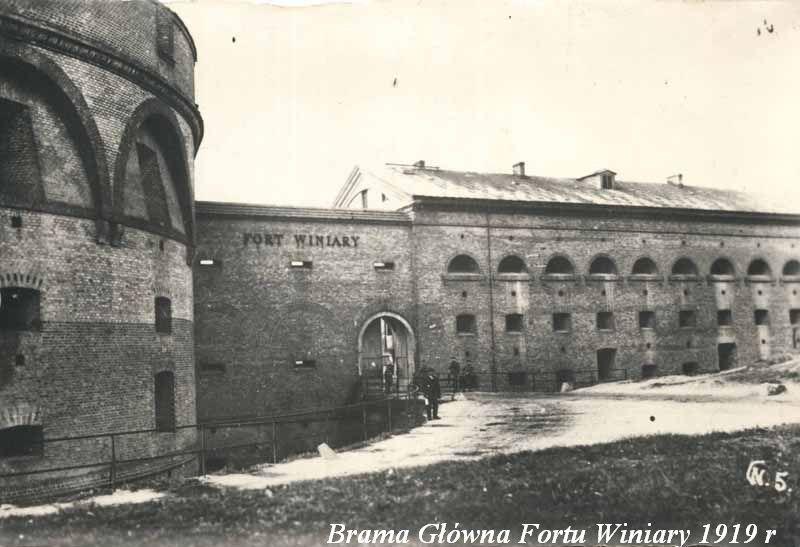 Brama Główna Fortu Winiary 1919 r