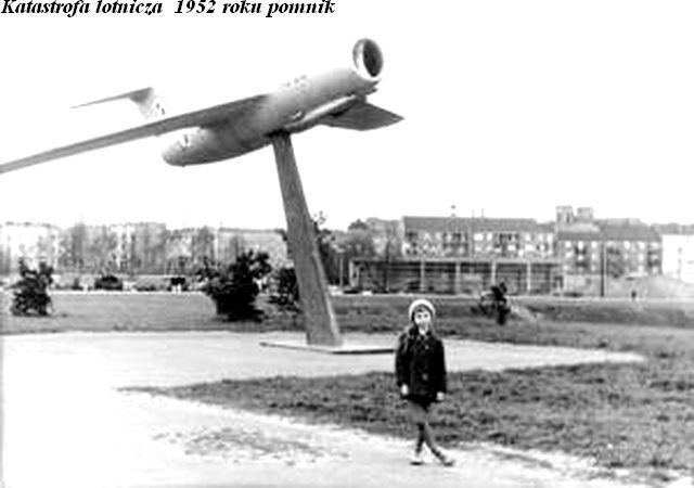 Katastrofa lotnicza  1952 roku pomnik