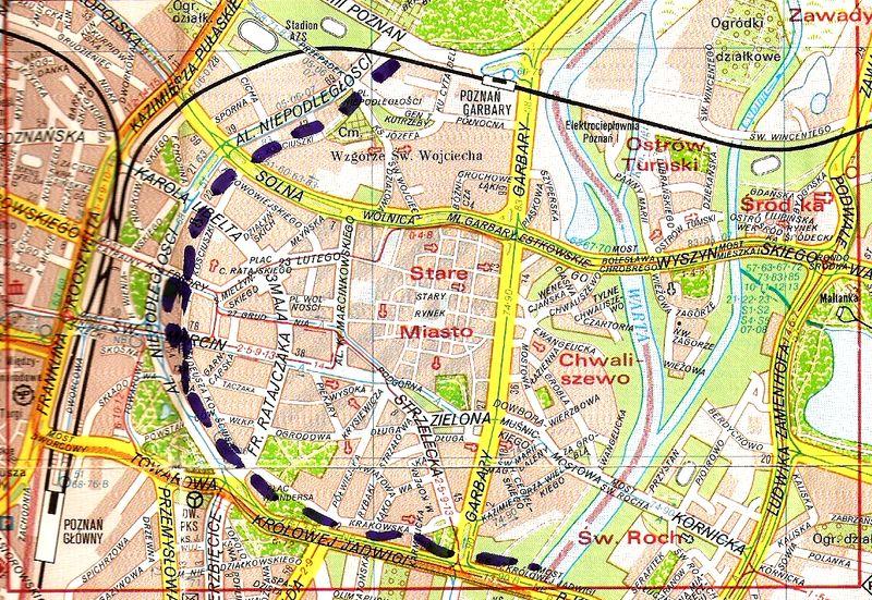 Mapa twierdza Polig.